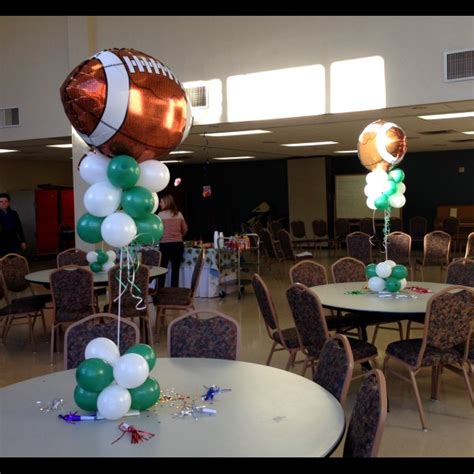 football banquet centerpieces sports themes foil balloons sporting events sports