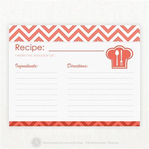 4x6 blank recipe cards recipe cards printable blank 4x6 red chevron bridal