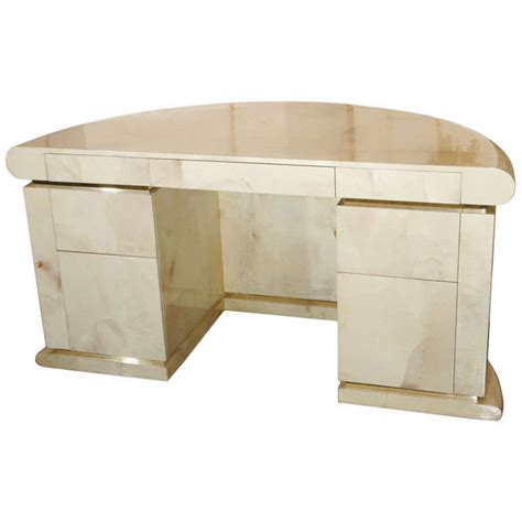 parchment covered presidental desk in the style of karl