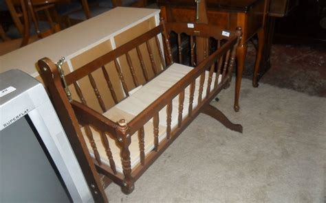 Fashioned Crib by Fashioned Wooden Crib On Stand Is Able To Rock