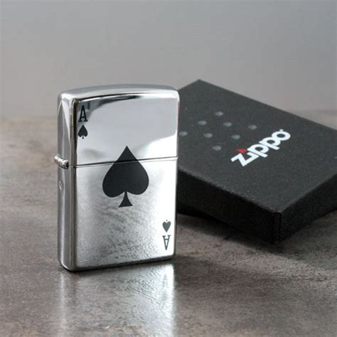 personalised lucky ace zippo lighter the gift experience
