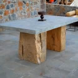 tisch betonplatte beton und holz inspirationen f 252 r den wohnraum