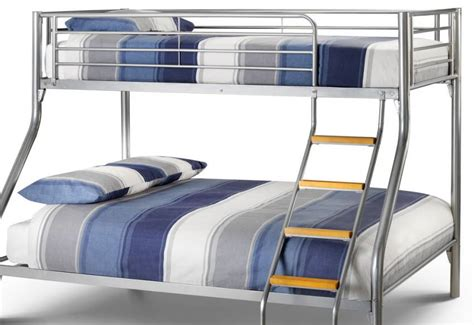 Julian Bowen Atlas Bunk Bed Julian Bowen Atlas Sleeper Bunk Bed Aluminium Finish Including A Single