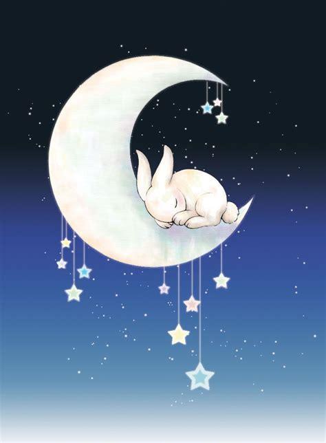 Kaos Bunny Sleep On Moon sleeping moon bunny by tunnelinu on deviantart notable