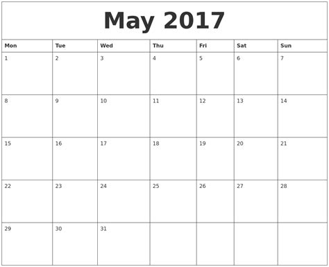 printable calendar quarterly 2017 may 2017 free printable monthly calendar