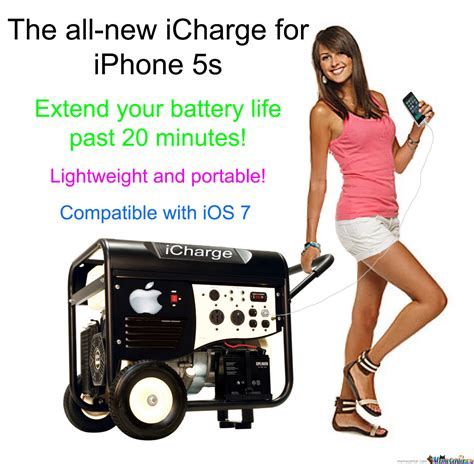 Iphone 5s Meme - new icharge for iphone 5s extend your battery life past 20 minutes by paulz1265 meme center