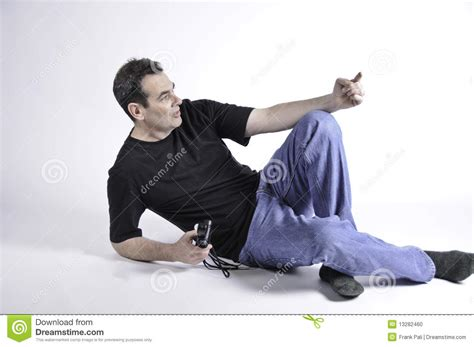 Laying On The Floor by Laying On The Floor And Pointing Stock Photo Image
