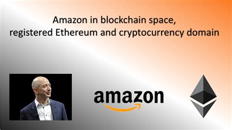 amazon ethereum amazon blockchain ethereum cryptocurrency bitcoin