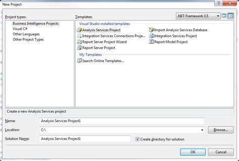 Business Intelligence Templates For Visual Studio 2013 | missing reporting server templates in visual studio 2013