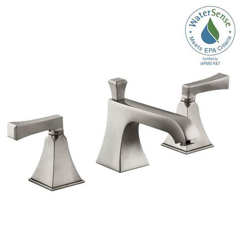 kohler bathroom faucets brushed nickel kohler memoirs 8 in widespread 2 handle low arc water saving bathroom faucet in