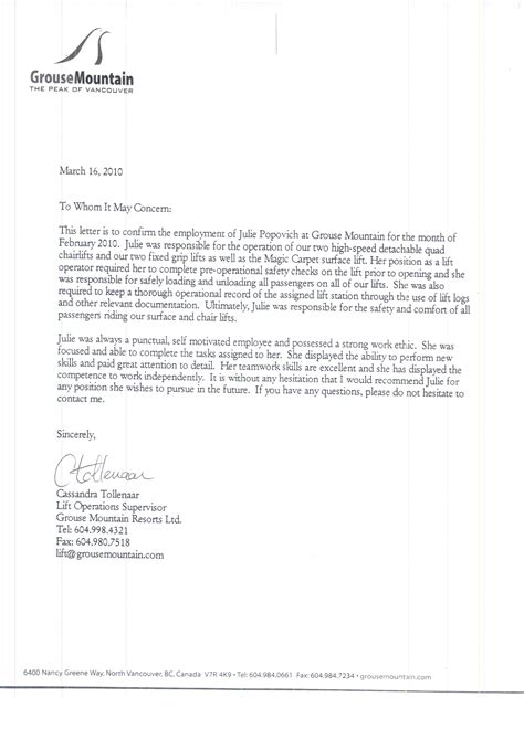 Reference Letter Hr reference letter for an employee new calendar template site