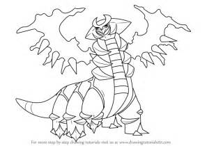 step step draw giratina pokemon drawingtutorials101