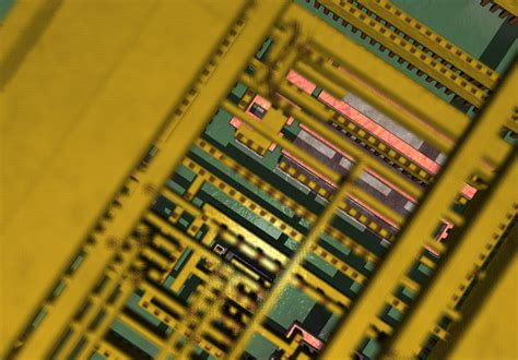 an integrated circuit is fabricated on a tiny silicon chip microfabrication