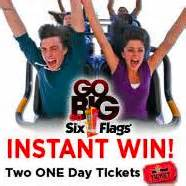 Win Six Flags Tickets Instantly - six flags tickets instant win game 1 000 winners freebieshark com