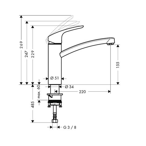 Mitigeur Evier Hansgrohe by Robinet Cuisine Mitigeur Cuisine Hansgrohe Focus E 178