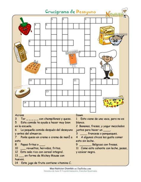 preguntas faciles sobre la tabla periodica imprimible crucigrama de nutrici 243 n desayuno