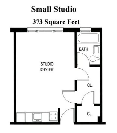 one bedroom efficiency apartment plans 17 best ideas about studio apartment floor plans on