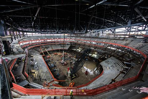 caesars arena construction photos released arena