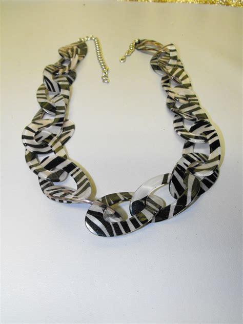 zebra pattern necklace zebra pattern oval loop necklace clive s unique jewelry