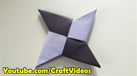 How To Make A Paper Shuriken Easy - how to make a paper easy origami