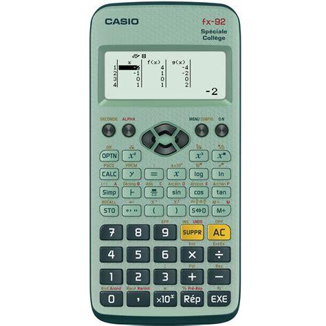 calcolatrice casio casio fx 92 sp 233 ciale coll 232 ge calculatrice casio sur ldlc