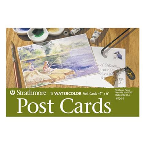 strathmore post cards templates strathmore blank watercolor post cards 4 quot x 6 quot 15 sheets