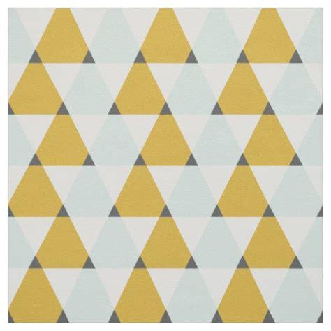 Yellow Geometric Pattern Fabric | modern geometric mint yellow triangles pattern fabric zazzle