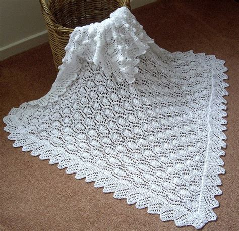 knitted baby comforter pattern beautiful baby shawl blanket hand knitted in a lace