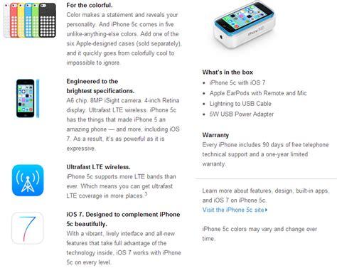 iphone 5c specs apple iphone 5c specs features availability price