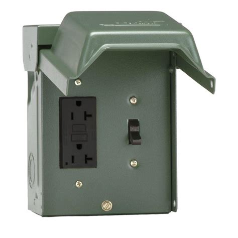 backyard outlet ge 20 amp backyard outlet with switch and gfi receptacle u010s010grp the home depot