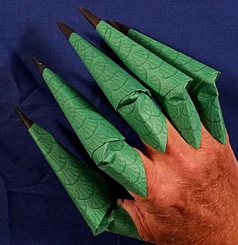 How To Make A Origami Finger Claw - printable origami claws
