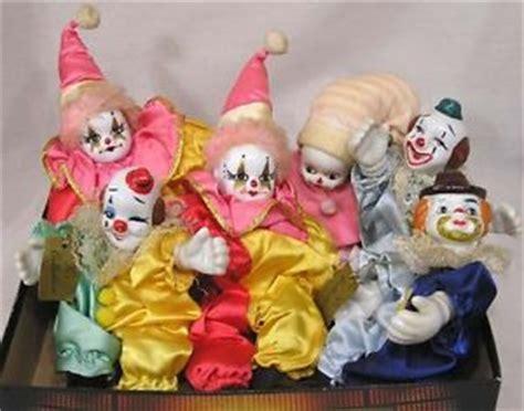 k s collection porcelain dolls vintage lot six miniature clown dolls porcelain heads