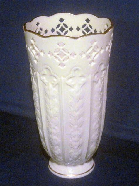Fleur De Lis Vases by Lenox Fleur De Lis Pierced Vase 9 5 Inch Ivory Gold Vases