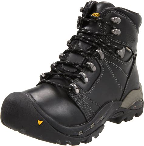 keen mens erickson pct waterproof hiking boot in black for