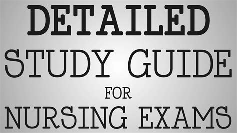 Nursing School Study Tips - nursing school detailed study guide for nursing exams