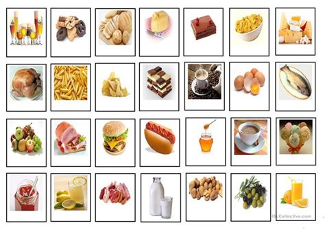 food and drinks cards worksheet free esl printable worksheets made by teachers - Gift Card Food