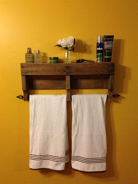 rustic bathroom towel racks the original rustic pallet towel rack shelf bathroom wall