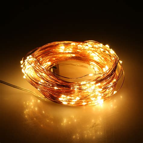 starry string lights on copper wire 280 led copper wire string lights warm white 14x2m branch