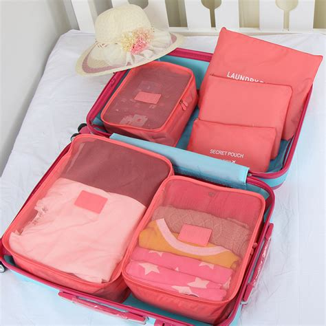 Laundry Pouch 6 In 1 Bag In Bag Travel Organizer Tas Penyekat Tas aliexpress buy 6pcs set travel storage bag for