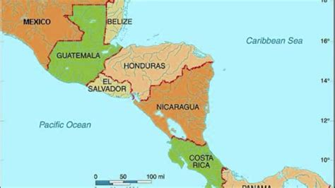 map of central america with capitals in maps of the americas central america political map