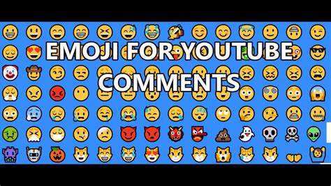 Emoji Youtube Comments | emoji smileys for youtube comments part 1 youtube