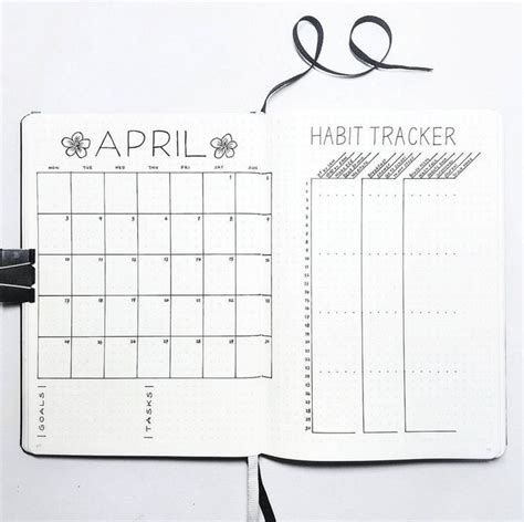 bullet journal monthly printable monthly log w habits and tasks just missing daily log