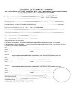 affidavit of parental consent form template affidavit of parental consent form template car interior