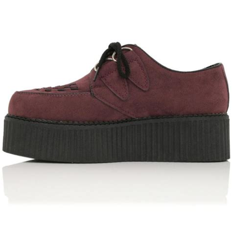 flat platform shoes buy matilda flat creeper platform shoes bordo suede style