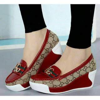 Sandal Wedges 3 Warna slip on wedges gucci g 3 warna sepatu wanita sandal cewek