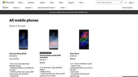 microsoft mobile store microsoft store 在售 android 手机已多于 windows 10 mobile 手机