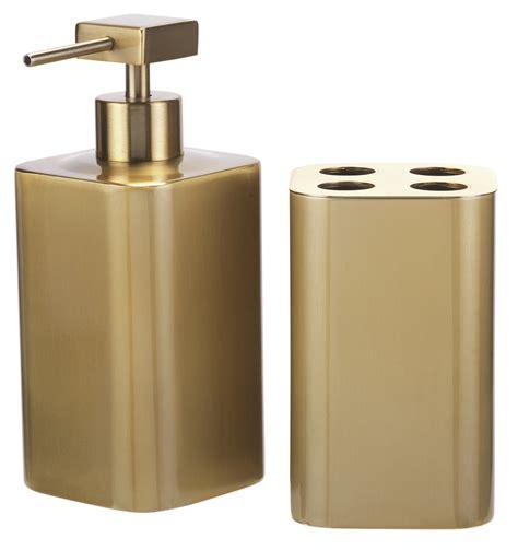 Dispenser Beling gold 2 pc bathroom accessory set toothbrush holder soap dispenser bling sparkle ebay