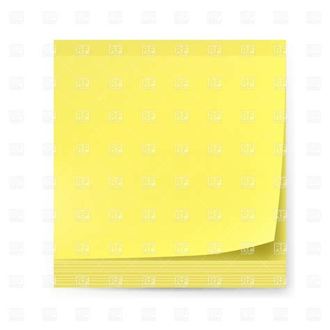How To Make Sticker Paper - blank yellow sticker adhesive paper note borders and