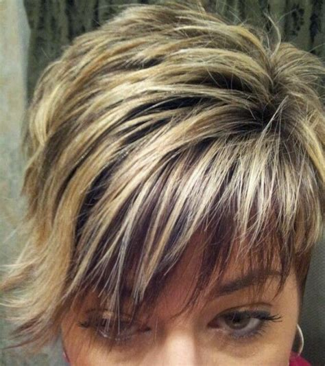 short hair styles with low and high lites 18 best chunky highlights images on pinterest blonde