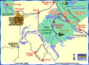 pikes peak cripple creek map co colorado vacation